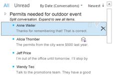sorteer je e-mail op conversaties