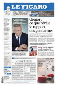 Voorpagina Le Figaro