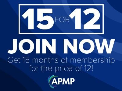 Rekruteer een APMP lid met de voordelige 15-voor-12 actie!